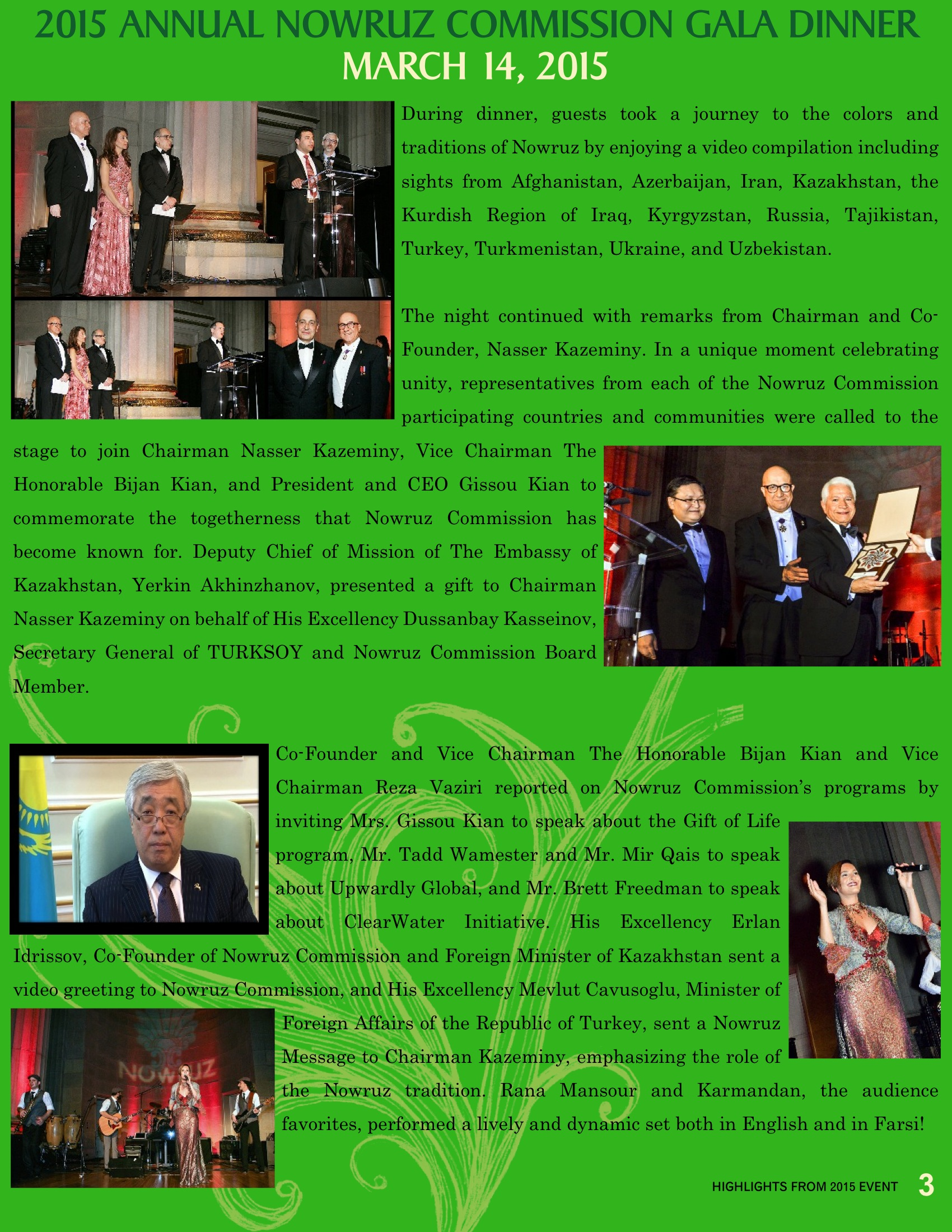 highlights from 2015 nowruz commission highlights from 2015