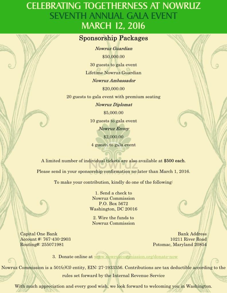 2016 Sponsorship Packages 2